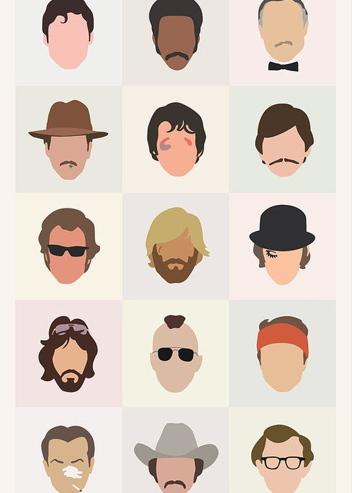 1970s Greeting Card featuring the digital art Seventies Movie Dudes by Mitch Frey