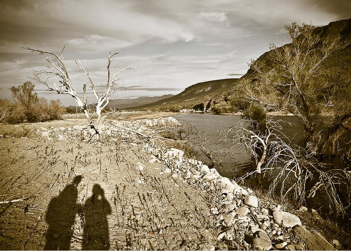 Desert Greeting Card featuring the photograph Shadows Lurking by Keith Sanders