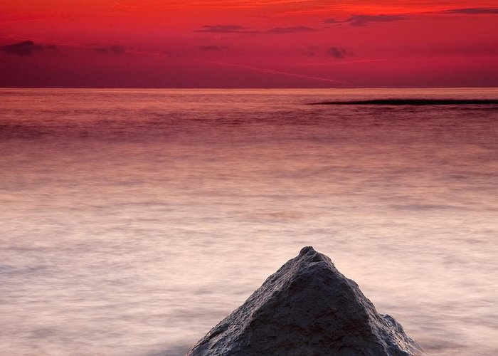 Sea Greeting Card featuring the photograph Shark Fin by Evgeni Dinev