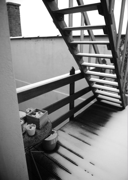 Stairs Greeting Card featuring the photograph Shelter by Jessica Rose
