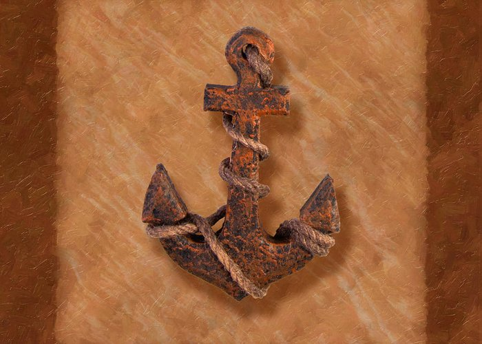 Anchor Greeting Card featuring the photograph Ship's Anchor by Tom Mc Nemar