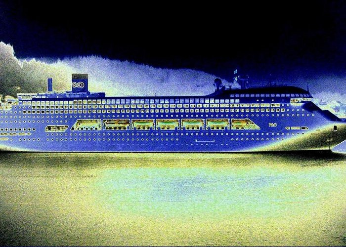 Ketchikan Greeting Card featuring the digital art Shipshape 7 by Will Borden