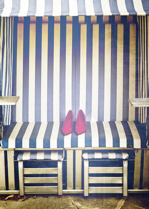 Shoes Greeting Card featuring the photograph Shoes In A Beach Chair by Joana Kruse