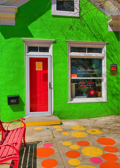 Store Greeting Card featuring the photograph Shop Colors by Steven Ainsworth