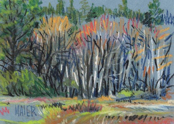 Spring Greeting Card featuring the painting Signs Of Spring by Donald Maier
