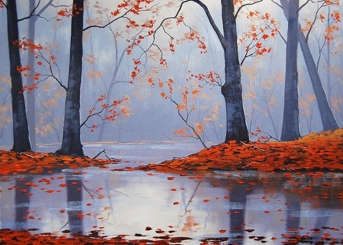 Fall Greeting Card featuring the painting Silent Autumn by Graham Gercken