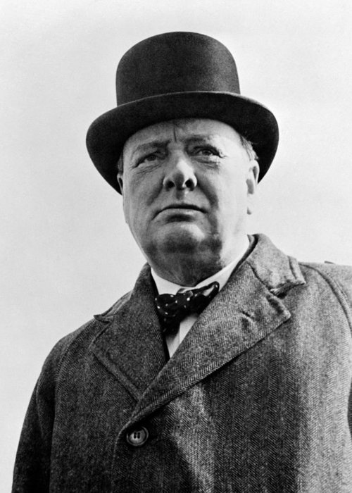 Wwii Greeting Card featuring the photograph Sir Winston Churchill by War Is Hell Store
