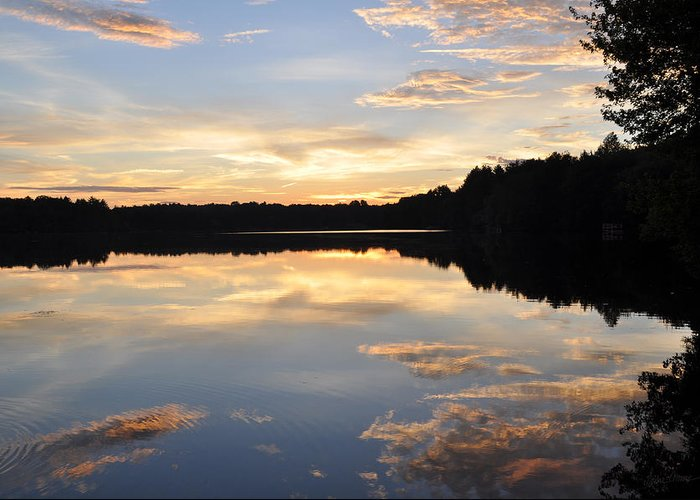 Lake Greeting Card featuring the photograph Slice Of Heaven by Luke Moore