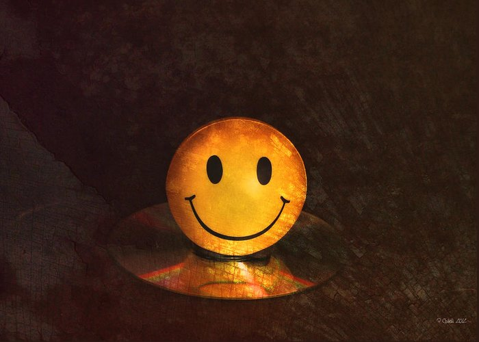 Still Life Greeting Card featuring the digital art Smile by Peter Chilelli
