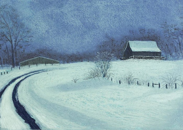 Snowbound Greeting Card featuring the painting Snow Bound by Garry McMichael