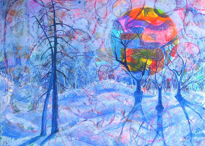 Winter Greeting Card featuring the painting Solstice by Rollin Kocsis