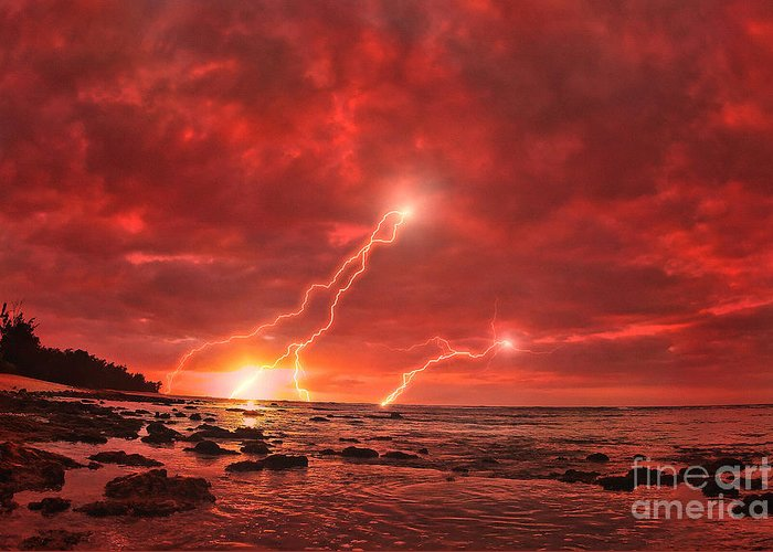 Lightning Greeting Card featuring the photograph Something Wicked by Paul Topp