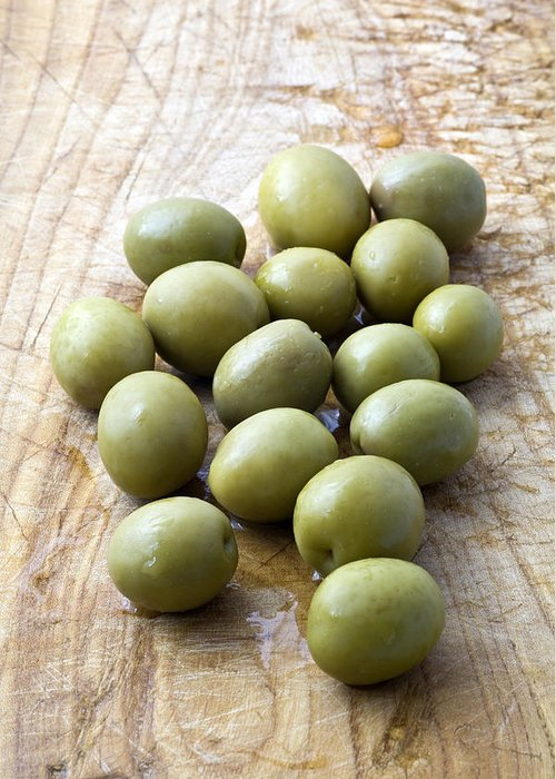 Olives Greeting Card featuring the photograph Spanish Manzanilla Olives by Frank Tschakert