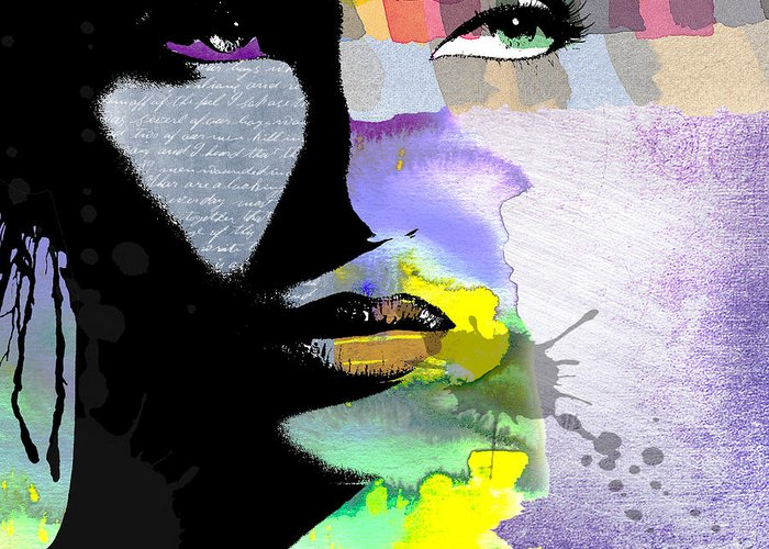 Art Greeting Card featuring the digital art Spirit by Ramneek Narang