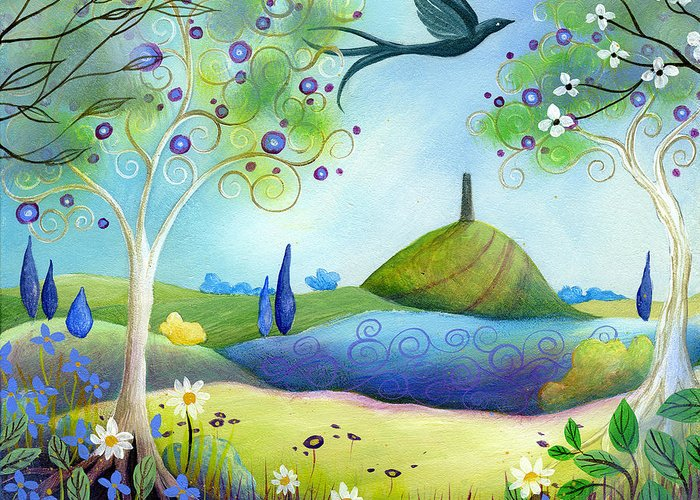Spring Greeting Card featuring the painting Spring Light by Amanda Clark