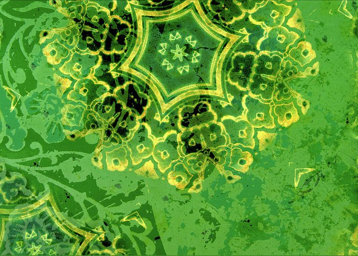 Kaleidoscope Greeting Card featuring the digital art Spring Sprung by Bonnie Bruno
