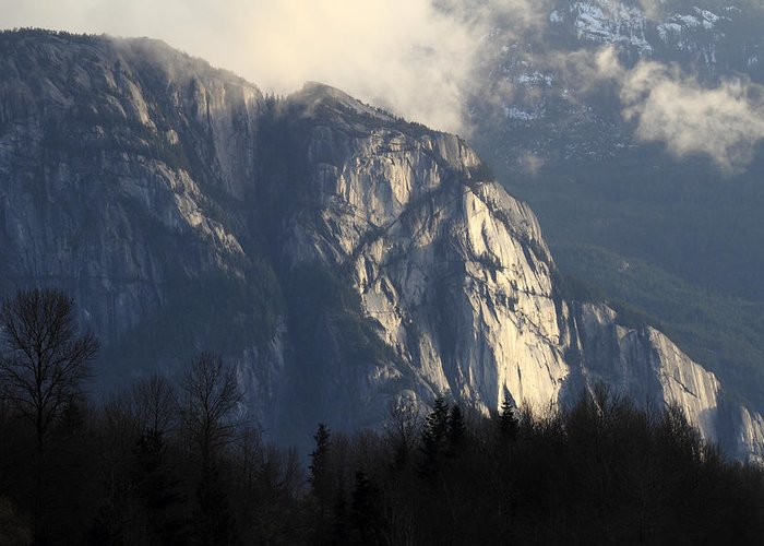 Squamish Greeting Card featuring the photograph Squamish Chief Monolith by Pierre Leclerc Photography