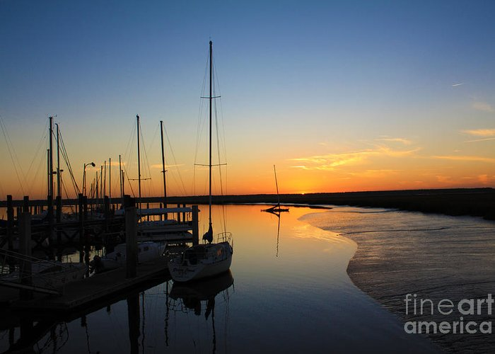 Sunset Greeting Card featuring the photograph St. Mary's Sunset by M Glisson