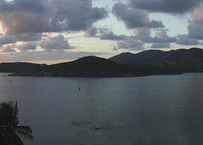 St. Thomas Greeting Card featuring the photograph St. Thomas At Dusk by Gary Lobdell