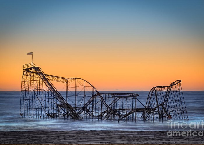 Landscape Greeting Card featuring the photograph Star Jet Roller Coaster Ride by Michael Ver Sprill