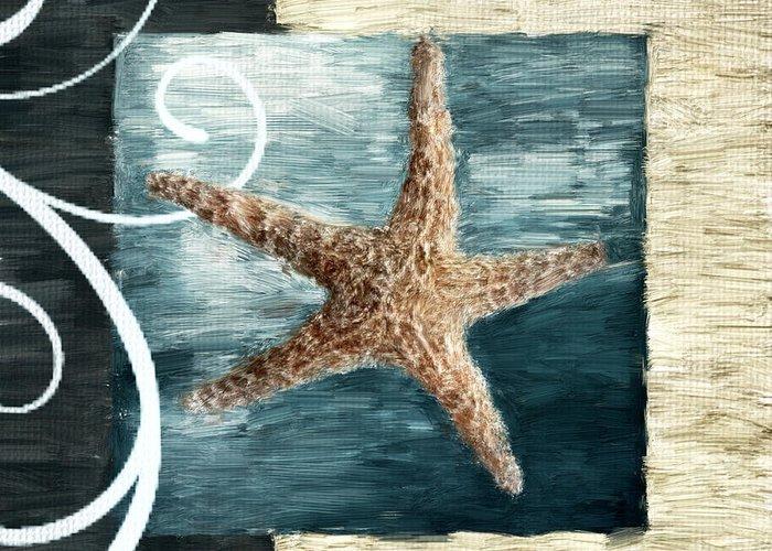 Seashell.seashells Greeting Card featuring the digital art Starfish Spell by Lourry Legarde