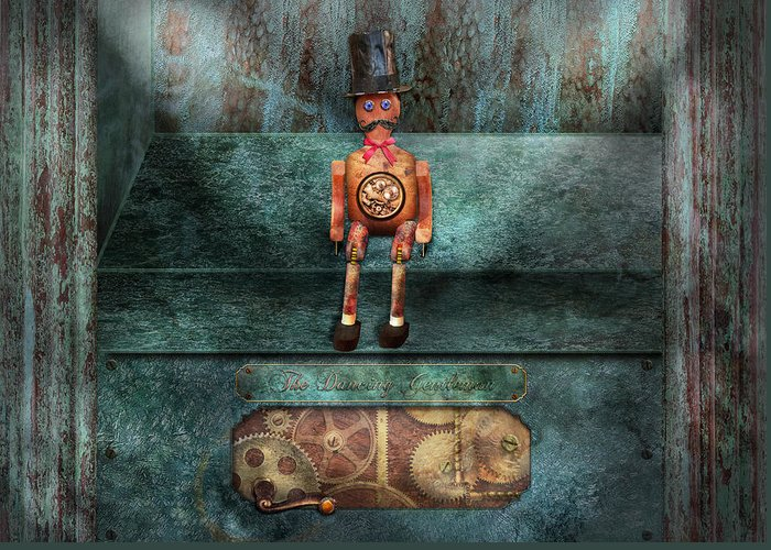 Hdr Greeting Card featuring the photograph Steampunk - My Favorite Toy by Mike Savad