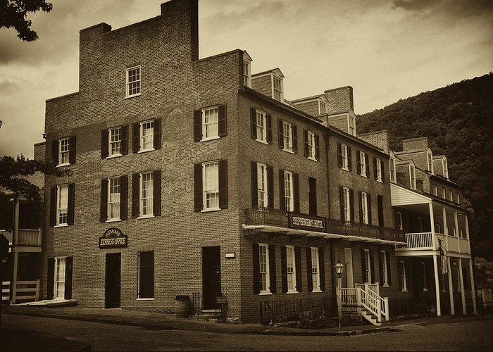 Stephensons Greeting Card featuring the photograph Stephensons Hotel - Harpers Ferry West Virginia by Bill Cannon