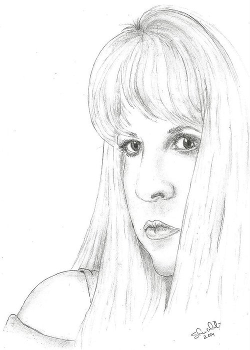 Stevie Nicks Greeting Card featuring the drawing Stevie by Steven White