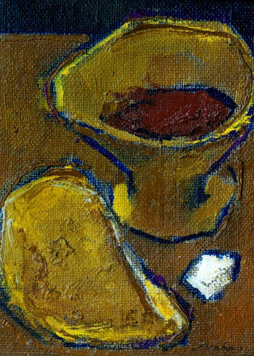 Altar Greeting Card featuring the painting Still Life 1 by Valeriy Mavlo