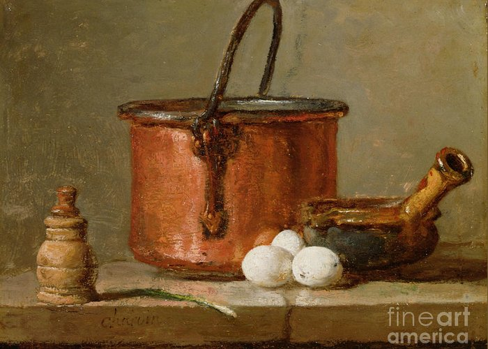 Still Greeting Card featuring the photograph Still Life by Jean-Baptiste Simeon Chardin