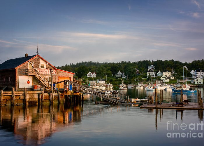 August Greeting Card featuring the photograph Stonington Lobster Co-op by Susan Cole Kelly
