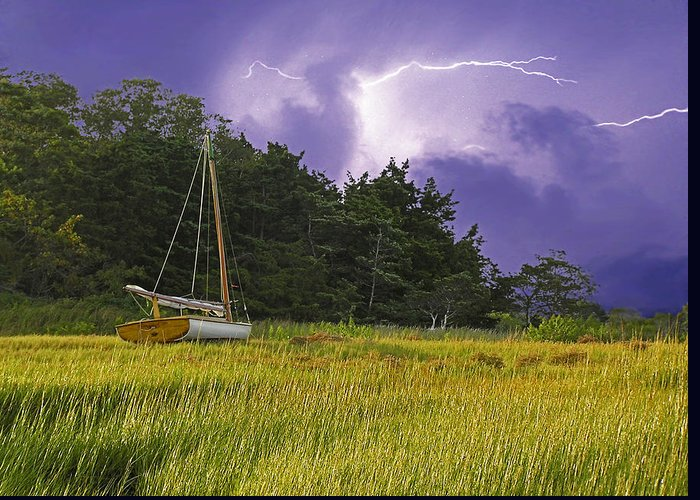 Barnstable Greeting Card featuring the photograph Storm Over Knott's Island by Charles Harden
