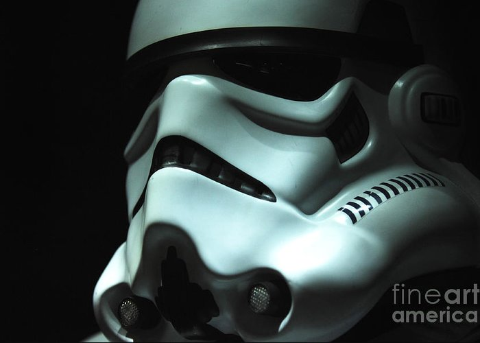 Stormtrooper Greeting Card featuring the photograph Stormtrooper Helmet by Micah May