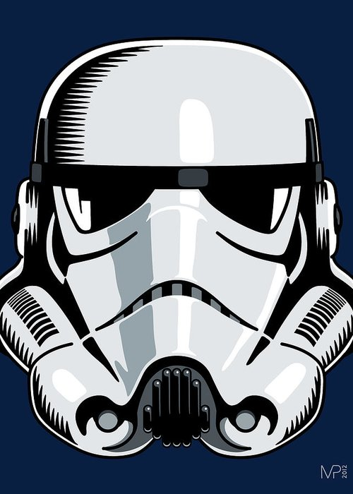 Star Wars Greeting Card featuring the digital art Stormtrooper by IKONOGRAPHI Art and Design