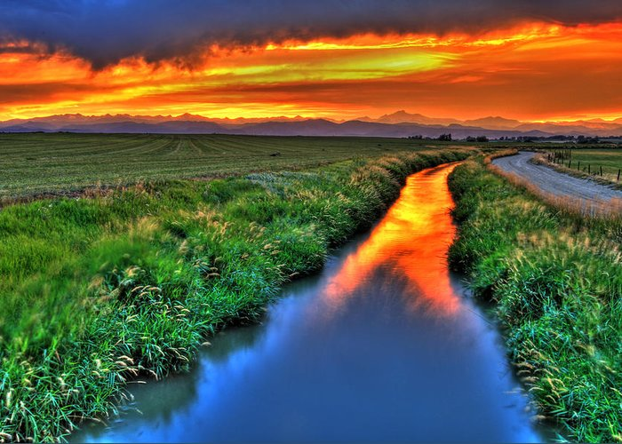 Colorado Greeting Card featuring the photograph Stream Of Light by Scott Mahon