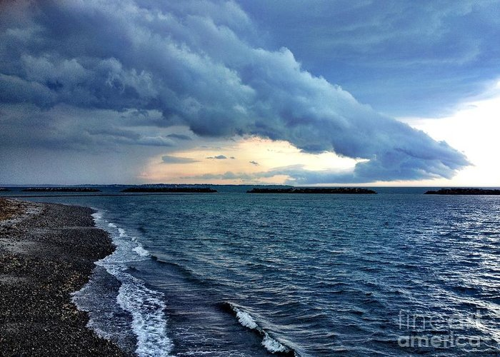 Storm Greeting Card featuring the photograph Summer Storm by Extrospection Art