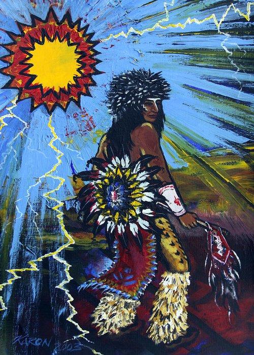 Art Greeting Card featuring the painting Sun Dancer by Karon Melillo DeVega
