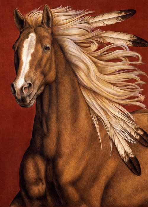 Horse Greeting Card featuring the painting Sunhorse by Pat Erickson