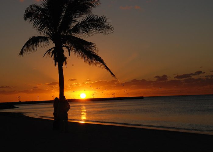 Sunrise Photos In Key West Fl Greeting Card featuring the photograph Sunrise In Key West Fl by Susanne Van Hulst