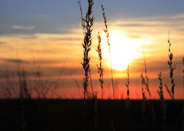 Oklahoma Greeting Card featuring the photograph Sunset At Monument Hill by Toni Hopper