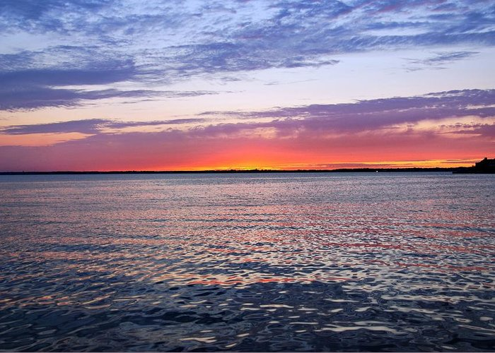 Sunset On Barnegat Bay Greeting Card featuring the photograph Sunset On Barnegat Bay I - Jersey Shore by Angie Tirado