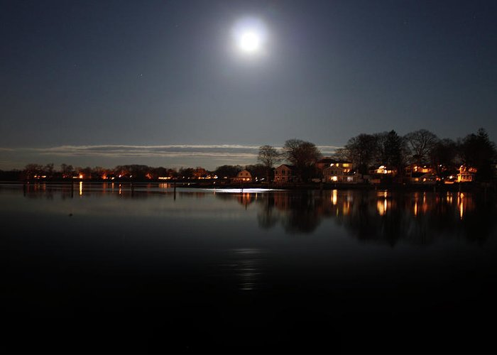Connecticut Greeting Card featuring the photograph Super Moon by Mark Ashkenazi