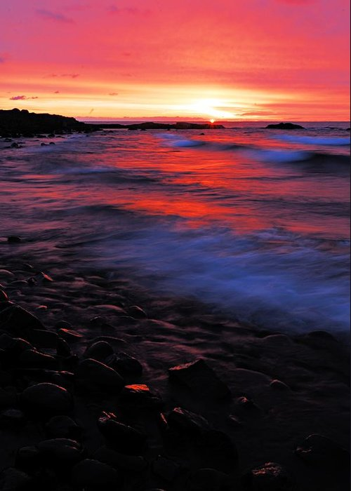 Split Rock Lighthouse State Park Greeting Card featuring the photograph Superior Sunrise by Larry Ricker