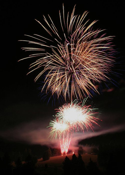 Fireworks Greeting Card featuring the photograph Surrealistic Hillside by David Patterson