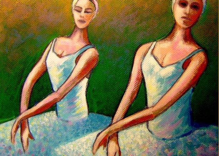 Swan Lake Ballet Greeting Card featuring the painting Swan Lake I by John Nolan