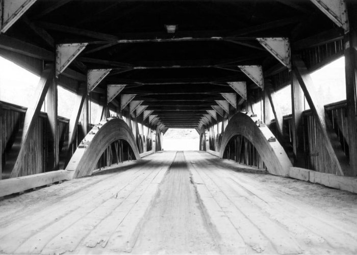 Bridge Greeting Card featuring the photograph Taftsville Covered Bridge by Greg Fortier
