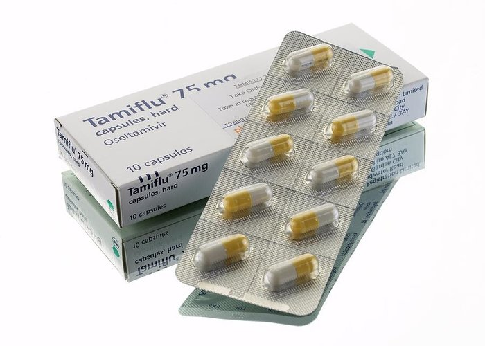 Blister Pack Greeting Card featuring the photograph Tamiflu Capsules by Mark Sykes