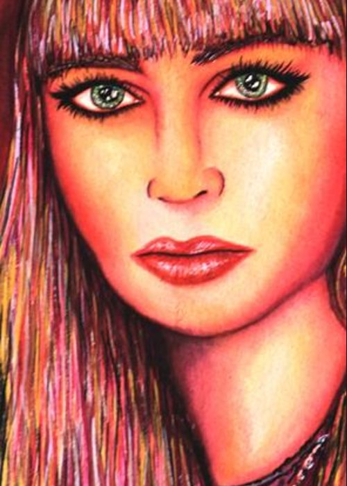 80's Greeting Card featuring the mixed media Teen Lost by Joseph Lawrence Vasile