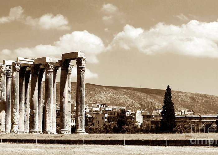 Temple Of Zeus Greeting Card featuring the photograph Temple Of Zeus by John Rizzuto