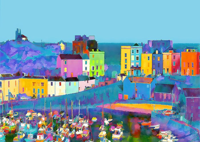 Tenby Greeting Card featuring the photograph Tenby Harbour I by Gareth Davies